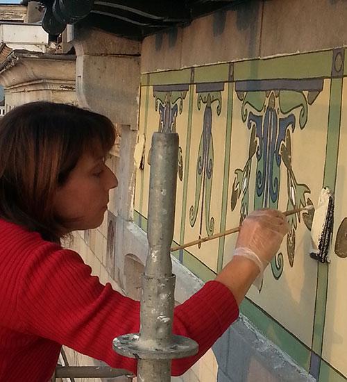 Restauration Sgraffites Elvira Iozzi